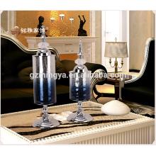 Modelo luxuoso luxuoso neoclássico de ornamentos de vidro para gabinete de televisão pós-moderna móveis macios