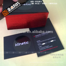 Silk screen embossing business cards for business