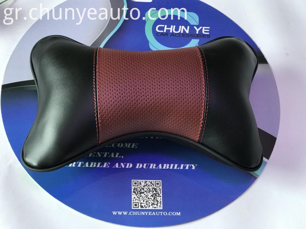 new design leather car neck pillow