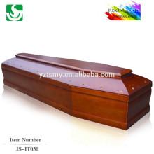 caixões de sólida madeira estilo italiano