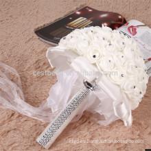 Beading elegante artificial hermosa flor blanca de flores de la boda al por mayor