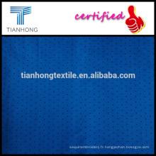 2015 nouveau design fond bleu et popeline de coton de haute qualité 80 s point noir armure légère imprimé tissu pour la robe chemise