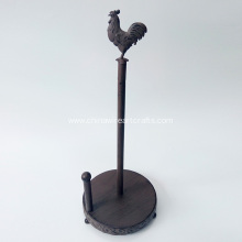Antique Metal Rooster TP Holder