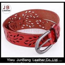 Prateleira de moda em couro genuíno Jean Belt para senhoras