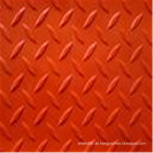 Anti-Rutsch-rot gefärbte Checker Rubber Sheet