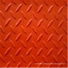Feuille en caoutchouc anti-dérapant de couleur rouge de vérificateur