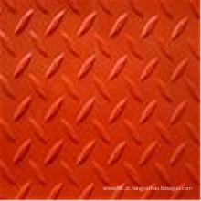 Folha de borracha de verificador colorido vermelho antiderrapante