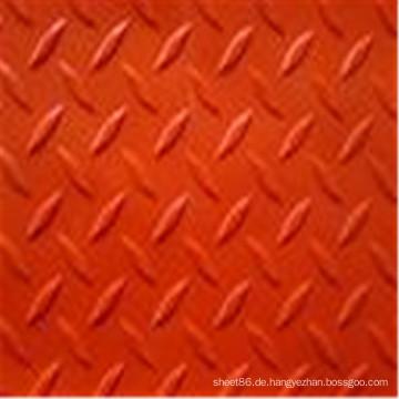 Anti-Rutsch-rot gefärbte Checker Rubber Sheet