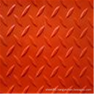 Anti-Slip Red Colored Checker Rubber Sheet