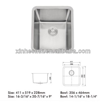 Single bowl undermount Stainless Steel Sink