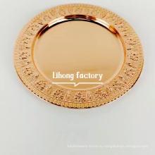 12inch зеркально отполированные розовое золото пластины из нержавеющей стали