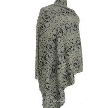 10% Kaschmir 90% Wolle bedruckter Schal
