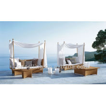 New Design Garden Wicker Outdoor Canopy Bed