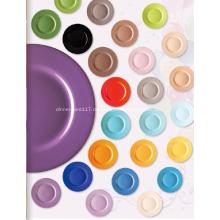 Steinzeug Platte Schale Muttersprachen Farbe