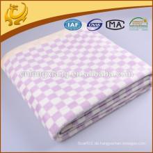 China Baby Company 100% Baumwolle Pullover Woven Decke Verschiedene Farben Baumwolle Baby Decke