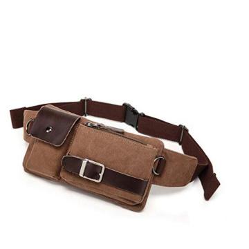 Vintage Men's Shoulder Fanny Waist Sports Belt Pack