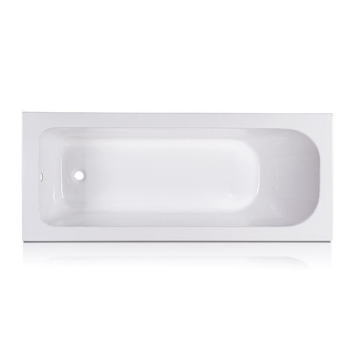 Pool White Straight Acrylic Bath Tub