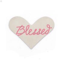 Modische neue Edelstahl Emaille Pink Blessed Herz Speicher Anhänger Platten Schmuck