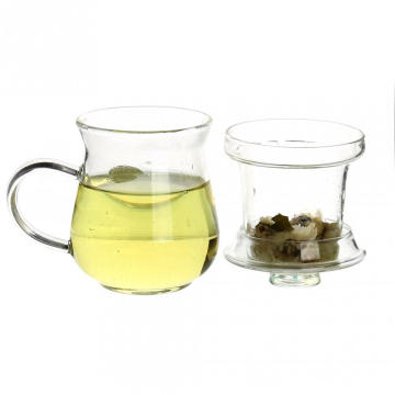 Glass Tea Infuser Loose Leaf Tea Glass Strainer Mug