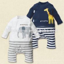 Primavera infantil macacão bebê macio macacão bebê fleece romper com manga longa