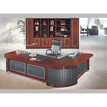 Conception de table de bureau classique, bureau d'ameublement en bois mince pour bureau commercial utilisé (A-07)