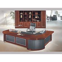 Classic office table design, Thin wood venner upholstery desk for commerical office used (A-07)