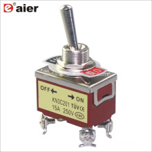 12MM 15A 250V DPST ON-OFF 2 Position KN3 4 Pin Toggle Switch