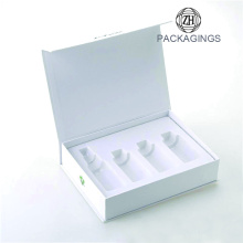 Matt white gift cardboard custom box for cosmetic