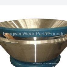 Piezas de repuesto de la trituradora Metso de acero de fundición OEM