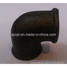 "1/2"" Malleable Iron Pipe Fittings Beaded Black Elbow Without Ribs"