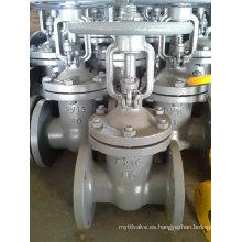 A216 Wcb GOST Py16 Dn80 Válvula de compuerta