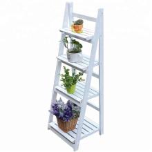4-ярусная подставка для цветов, деревянная лестница для растений и цветов, садовый балкон