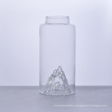 Mountain Bottom750ml Empty Glass Bottle with Cork Lid