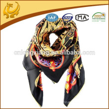 Turkish 2015 Fashionable Twill Style Large Square Silk Scarf Manufacturing