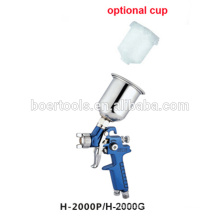 Mini HVLP Spray Gun H2000 with plastic cup or alu cup