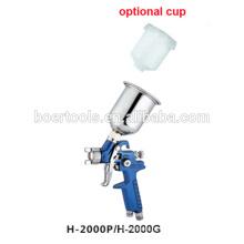 Мини hvlp спрей пистолет Х2000 с пластиковый стаканчик или чашку Алу
