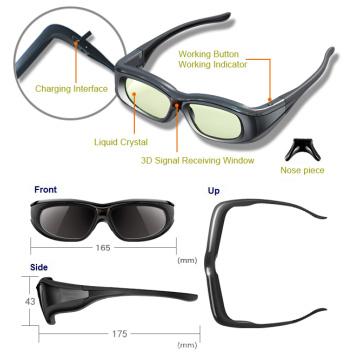 Bluetooth Active Shutter Óculos 3D para Sony / Panasonic TV (YLC-G01)