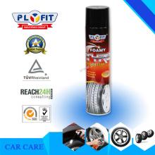 Neumáticos brillantes Brillo espumoso de los neumáticos de coche