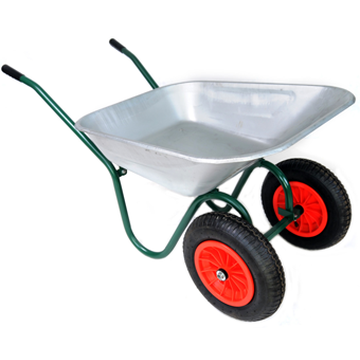 Steel Two Wheelbarrow
