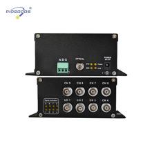 1/4/8 canales de fibra óptica convertidor de video cctv digital