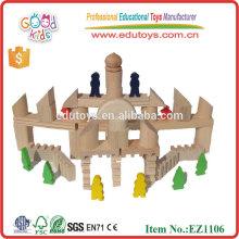 EZ1106 almacenado 108 piezas de madera sólida Roma Estilo Niños grandes bloques de construcción