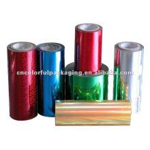 Material de embalaje de la película de rollo con material claro o impreso y diferente