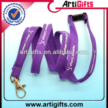 Purple color fashion cheap women's lanyards