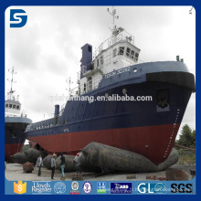 utilisé pour le lancement de navires soulever des objets lourds et sac gonflable de sauvetage