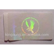 etiqueta engomada laser personalizada para el paquete