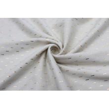 Fancy Foil Printing Linen Curtain Fabric