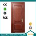Puerta interior de MDF de chapa de madera de grano de madera de roble rojo