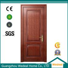 Porte intérieure de MDF de placage en bois de grain de bois de chêne rouge
