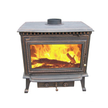 Antique Old Brass Wood Burning Stove