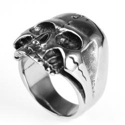 Customized size Buddhism skull head ring for men